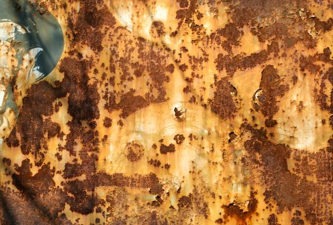 peeling rusty metal