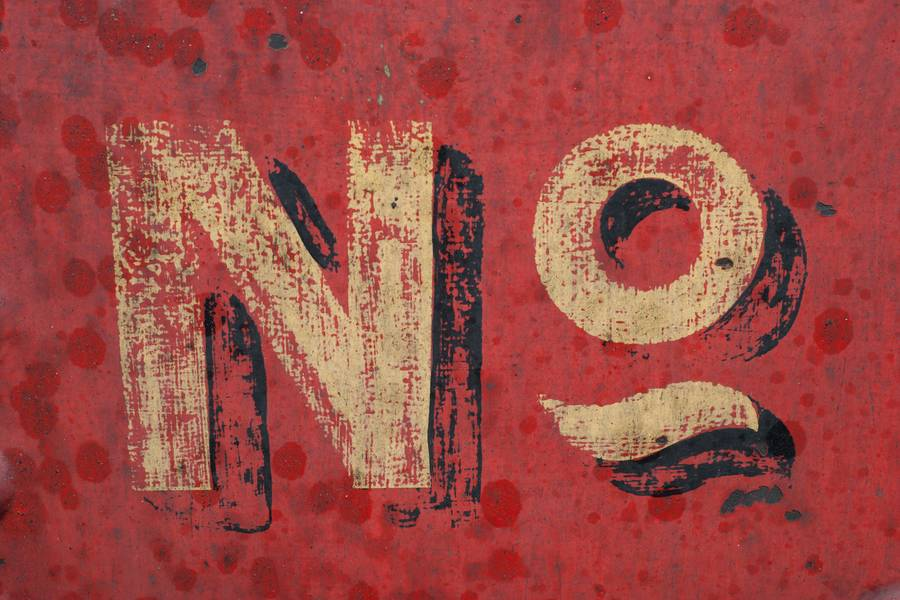 Retro No Inscription on Grunge Red Wall free texture