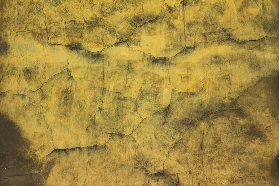 Yellow Cracked Dirty Wall free texture