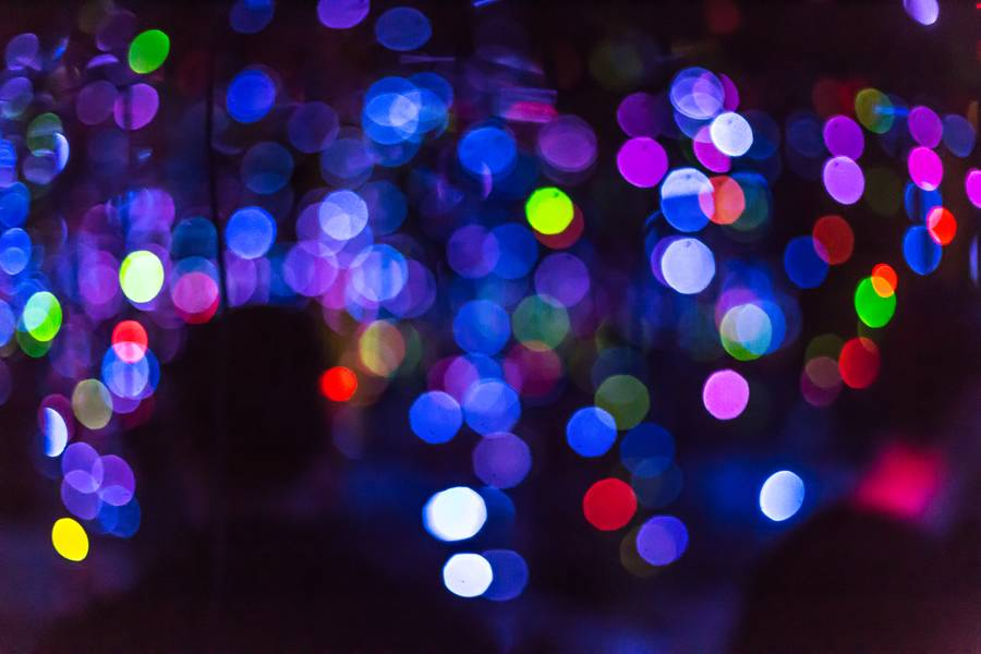 Abstract Colourful Bokeh Background free texture