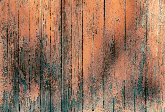 Dilapidated Orange Planks