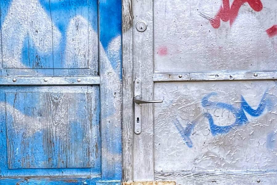Blue Grunge Door free texture