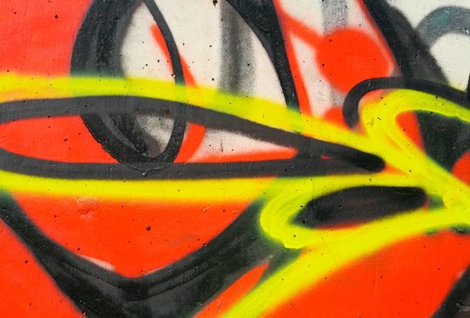 spray graffiti closeup