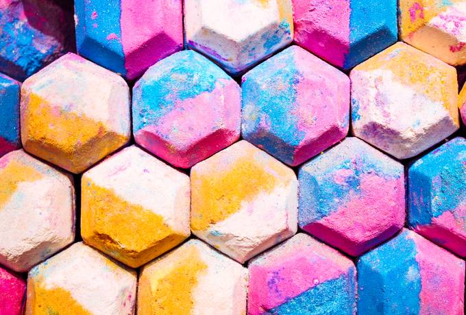 free Abstract Hexagon Colorful Background texture