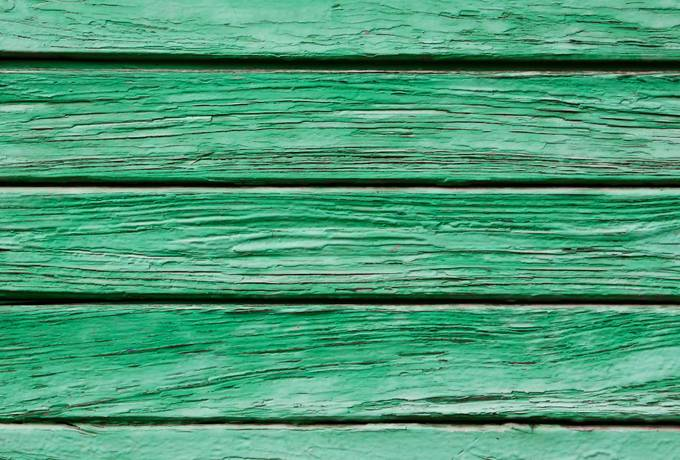green weathered wood