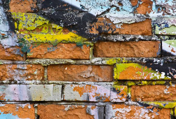 wall brick graffiti
