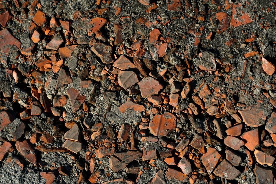 debris brick ground free texture