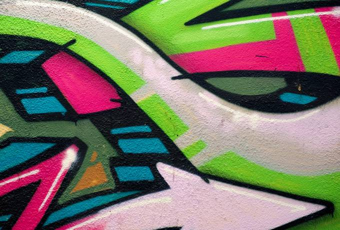 Wall Art with Colorful Abstract Graffiti