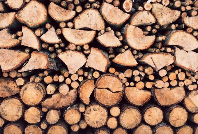 free Stack of Wooden Logs texture