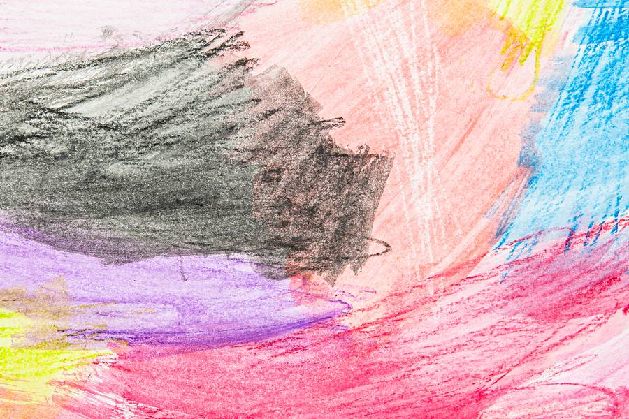 Colorful Stains Drawn with Crayons free texture