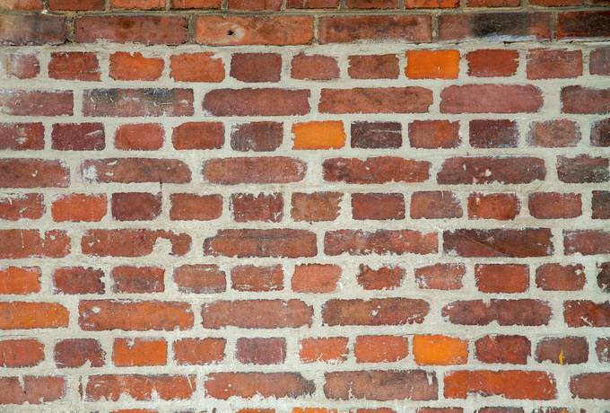 Rough Red Brick Wall