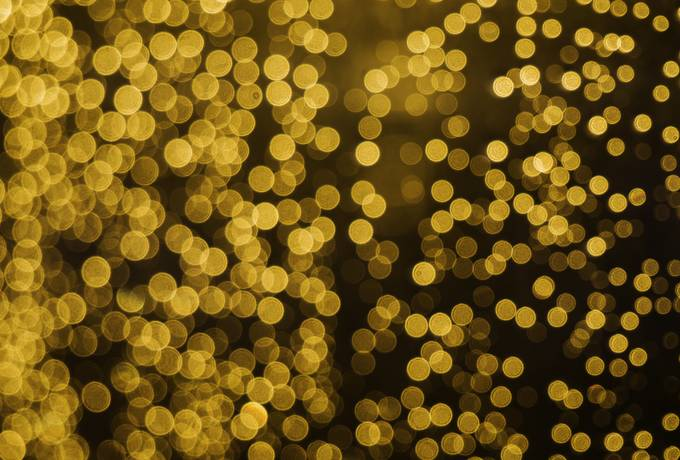 Dreamy Golden Bokeh Background