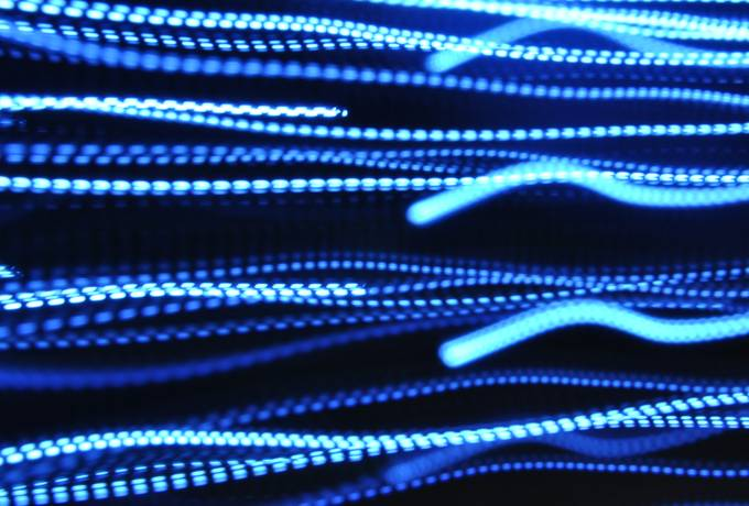 free Blue Abstract Glowing Lines texture