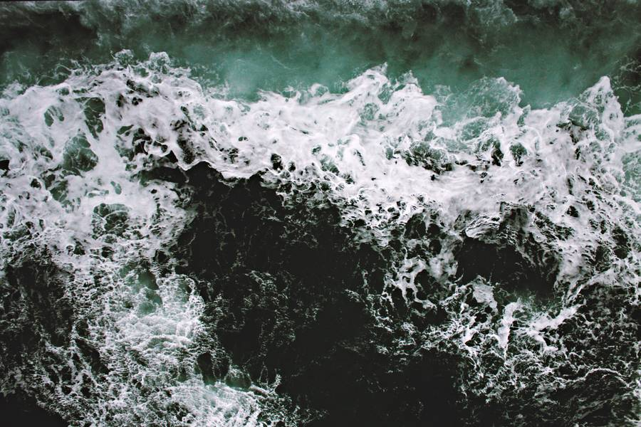 Rapid Sea with Foam and Green Water free texture