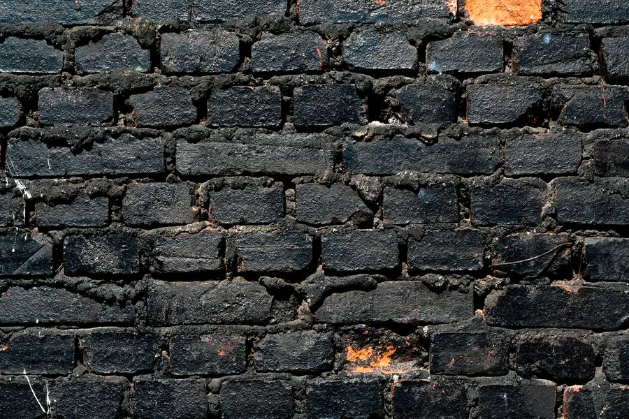 burned black brick free texture