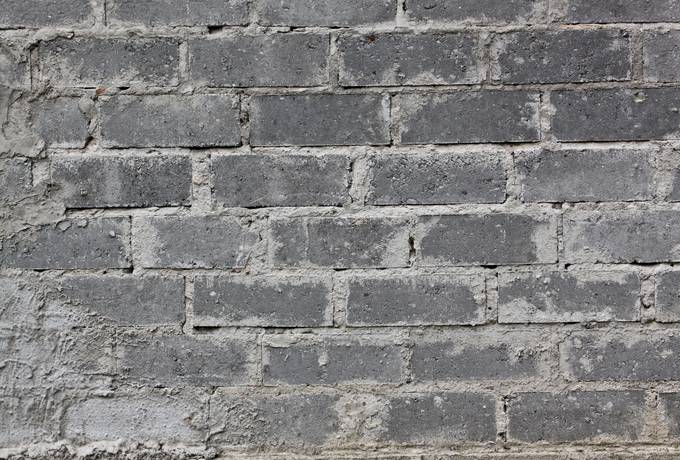 brick gray wall