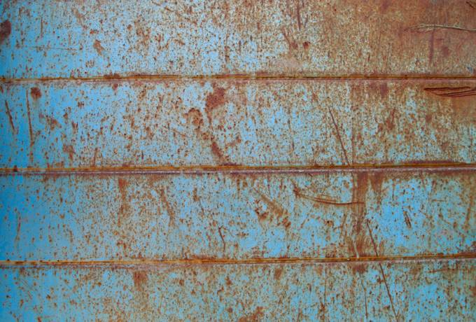 blue metal grunge