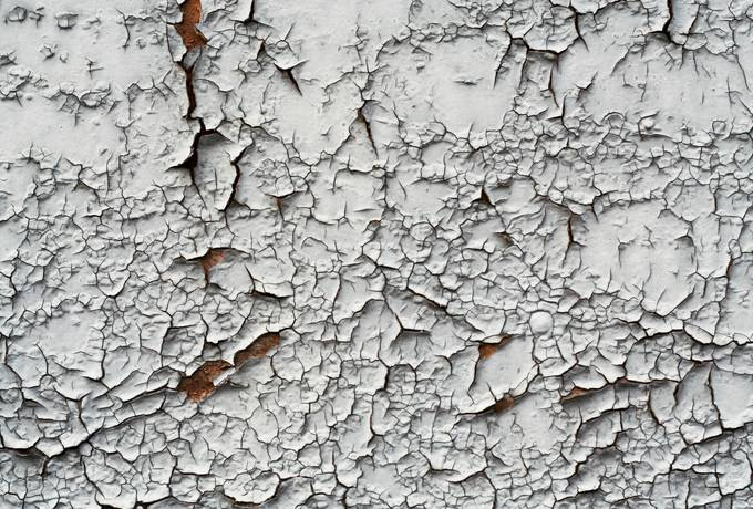 paint cracked wood