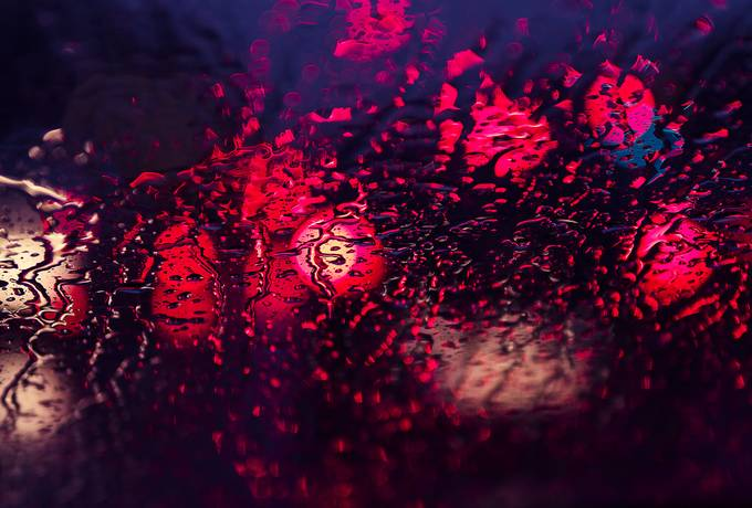 free Abstract Bokeh Wet Surface texture