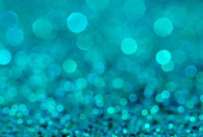 Blue Shiny Bokeh