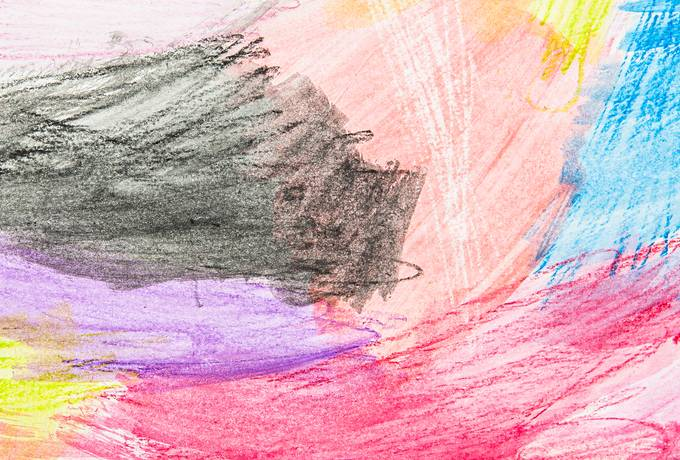 free Colorful Stains Drawn with Crayons texture
