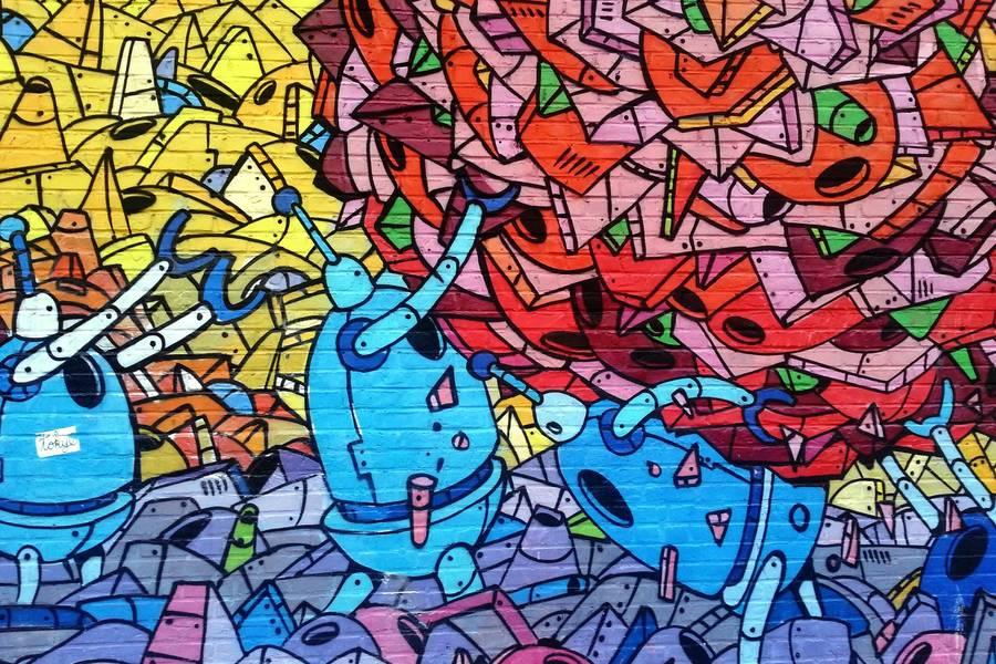 Robots Graffiti free texture