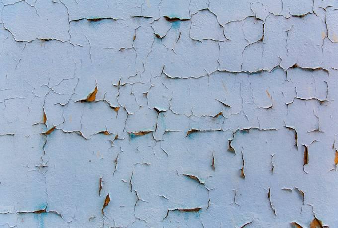 Peeling Paint Blue Wall