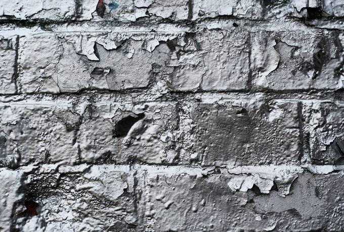 silver brick wall