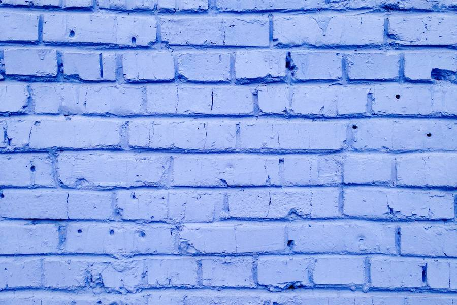 Brick Wall Painted in Blue free texture