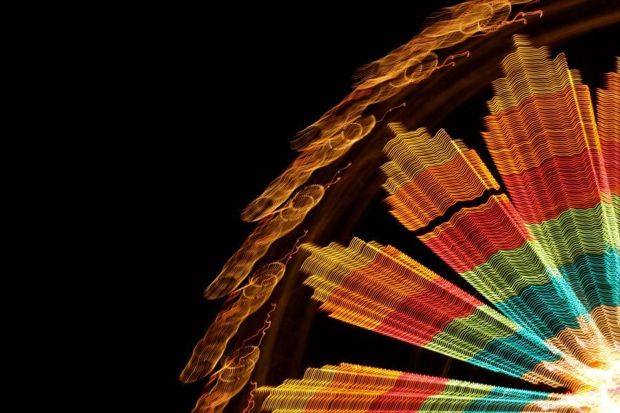 ferris wheel light streak glowing free texture