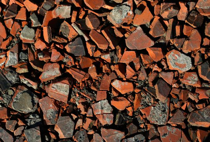 free debris rubble brick texture