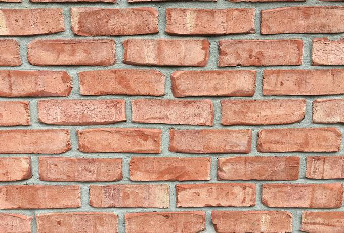 Closeup of Red Brick Wall