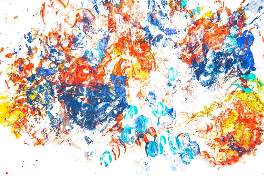 Colorful Abstract Painted with Fingers free texture