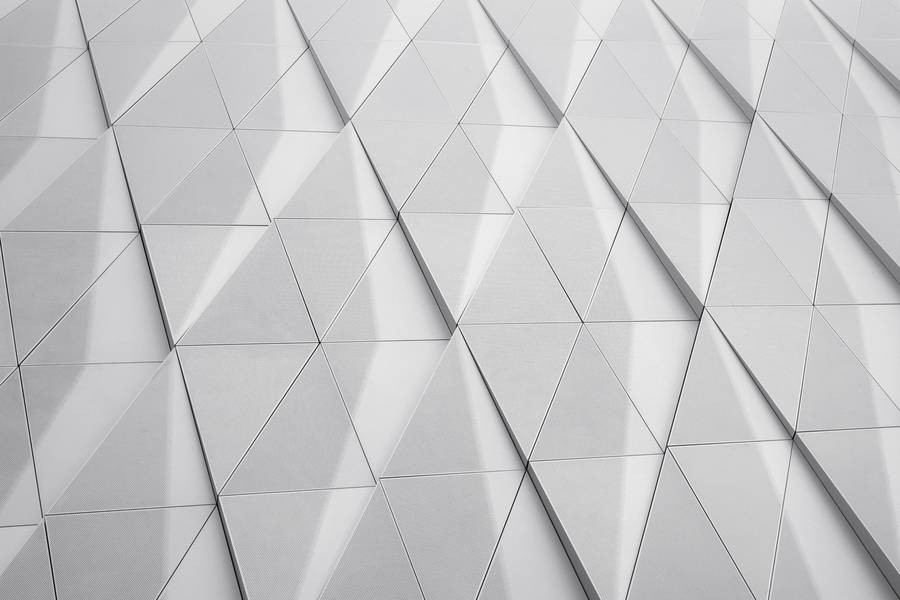 Abstract Closeup  of Modern Building Triangles on Facade free texture