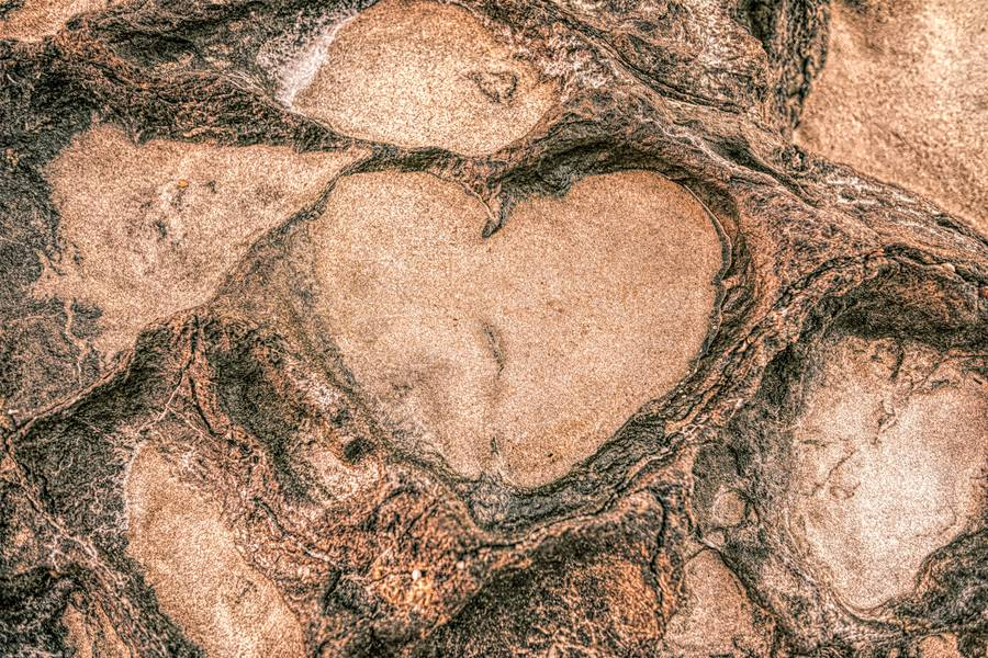 Heart Shape in the Rock Formation free texture