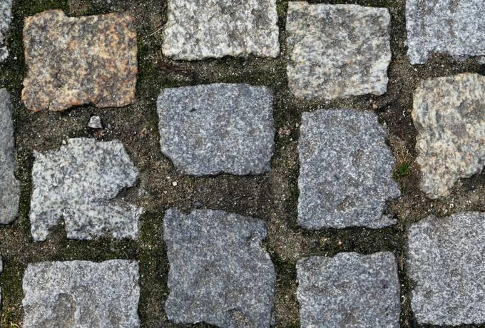 road cobblestone stone