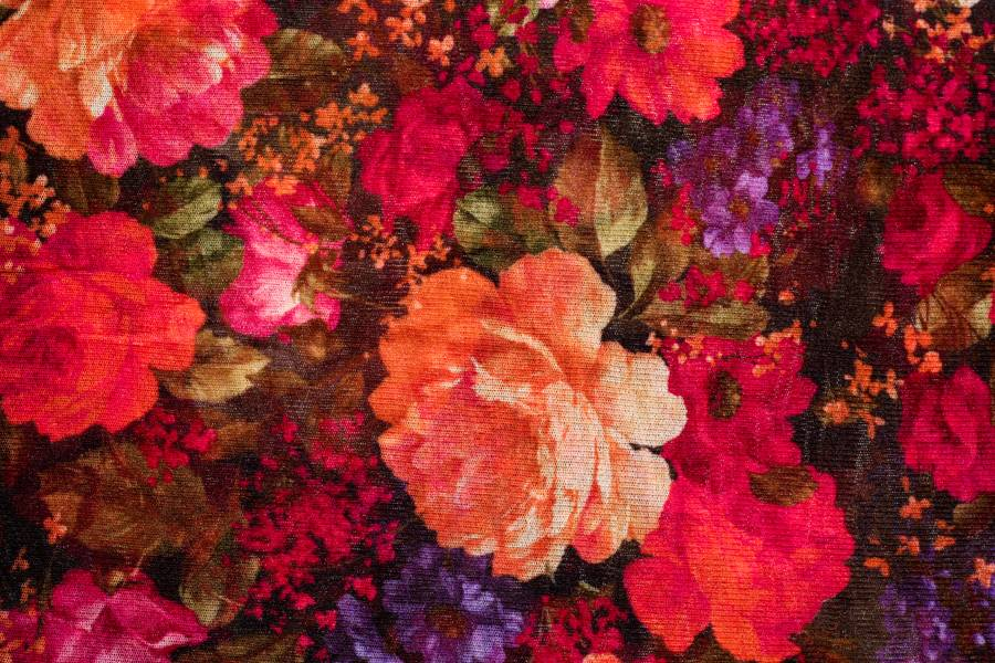 textile fabric flowers free texture