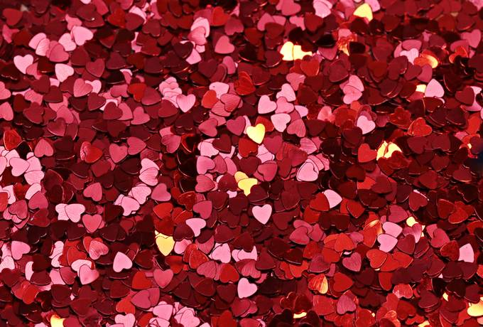 free Lots of Tiny Sequin Hearts texture