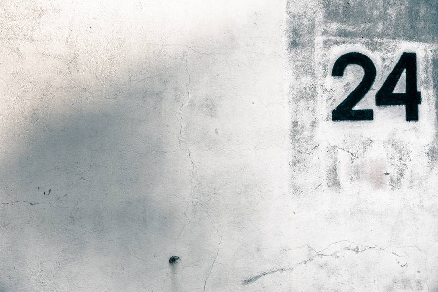 Grunge Wall with Number Twenty-four free texture