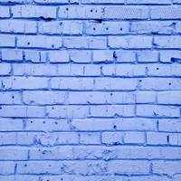 Brick Wall Painted in Blue