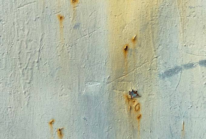 Rust Stains on Painted Metal