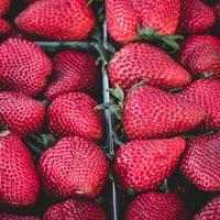 Top View of Tasty Strawberries