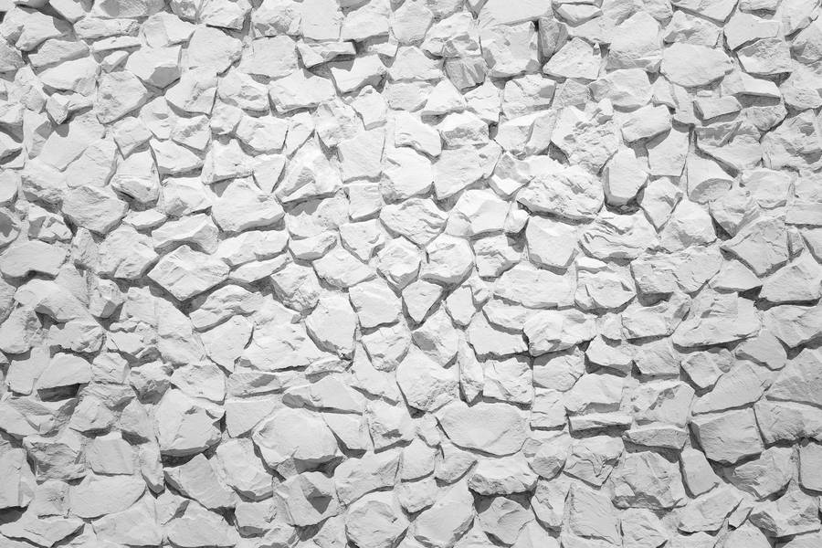 Decorative White Stone Wall free texture