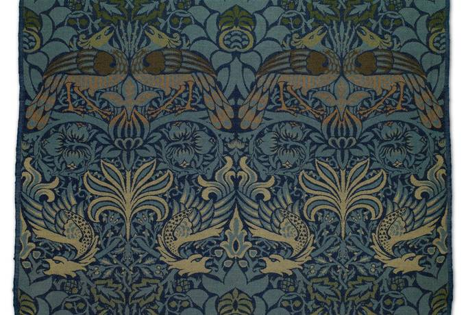 free Peacock and Dragon by William Morris texture