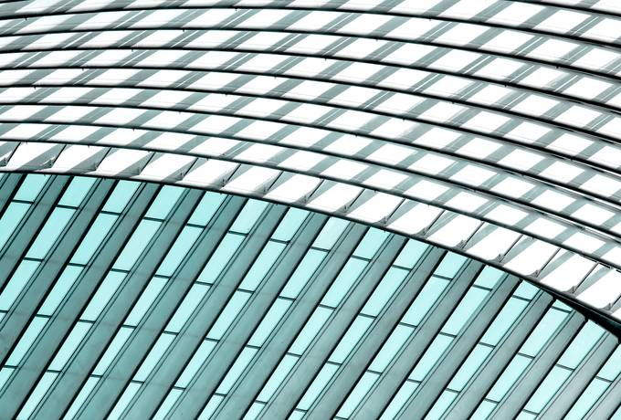 free Modern Building with Curving Glass Roof texture