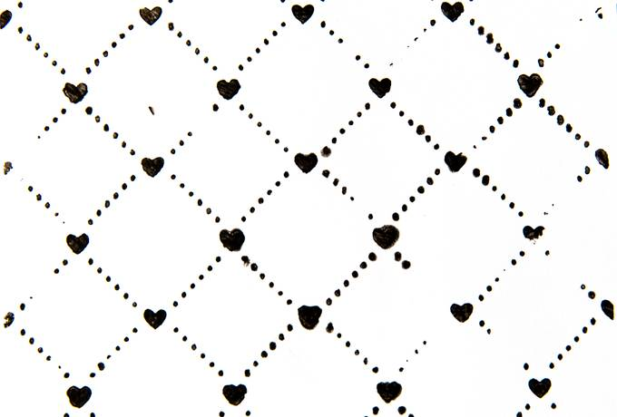 Paint Pattern with Little Hearts
