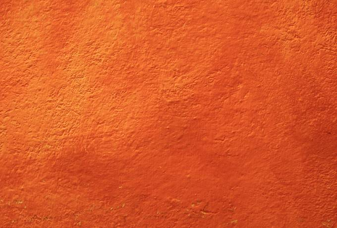 textured orange wall