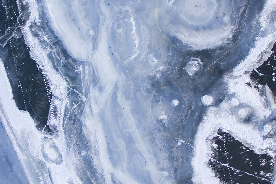 Blue Ice with Scratches on Surface free texture