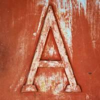 Grunge Letter A
