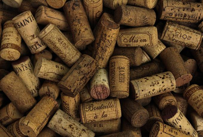 free Corks of Vines Bottles texture